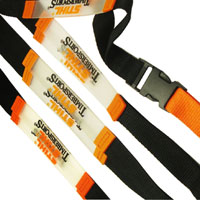 Polyester Lanyards mit PCV Band